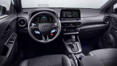 Hyundai Kona N 2021, gli interni con grafiche dedicate
