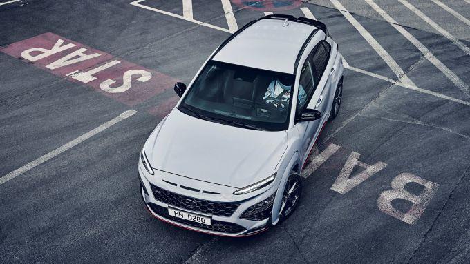 Hyundai Kona N 2021, visuale dall'alto