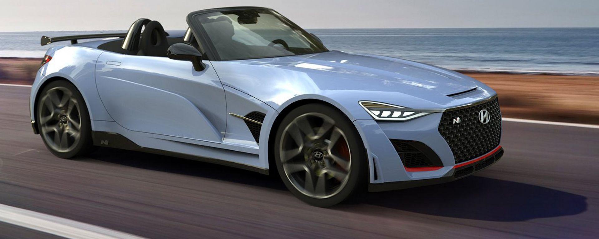 Hyundai N Roadster, un rendering per far sognare