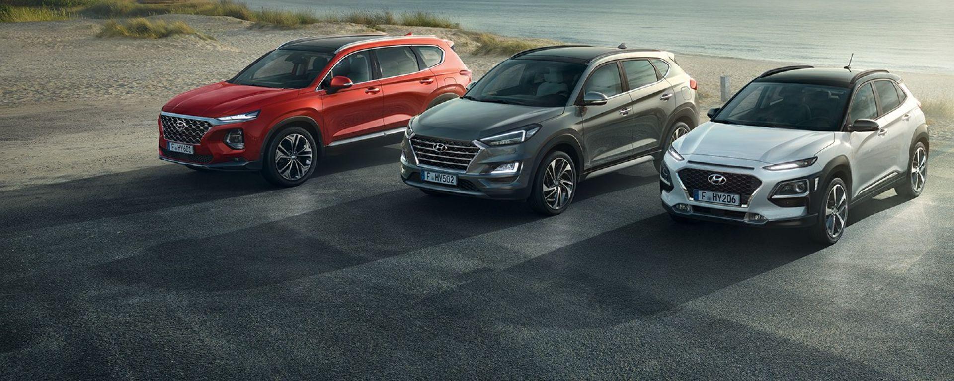 Hyundai Santa Fe, Hyundai Tucson, Hyundai Kona: l'offerta di gennaio 2019