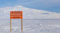 Hyundai Santa Fe in Antartide: anche al polo ci sono i cartelli stradali