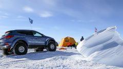 Hyundai Santa Fe in Antartide: i turni di guida erano di 20 ore circa