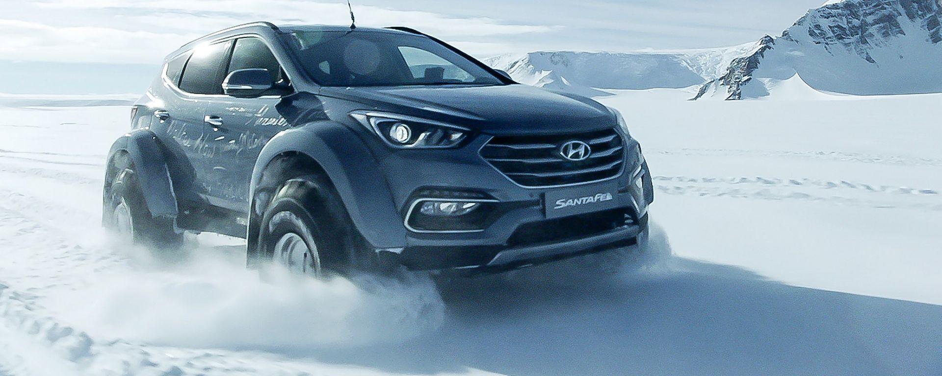Hyundai Santa Fe in Antartide: il suv coreano è la prima auto nella storia a compiere la traversata antartica
