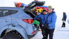 Hyundai Santa Fe in Antartide: l'equipaggio che ha preso parte all'impresa