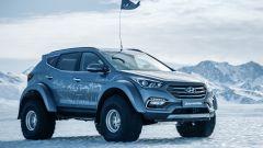 Hyundai Santa Fe in Antartide: modifiche anche per i passaruota, allargati per contenere gli speciali pneumatici
