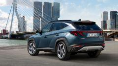 Hyundai Tucson 2020: visuale di 3/4 posteriore