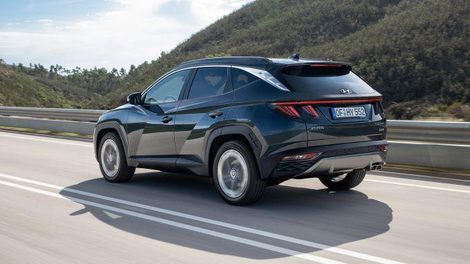 Hyundai Tucson 2021: posteriore