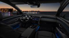 Hyundai Tucson Hybrid 2021, interni: abitacolo anteriore