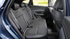 Hyundai Tucson Hybrid 2021, interni: abitacolo posteriore