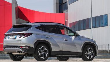 Hyundai Tucson plug-in hybrid: lo stile molto personale del SUV