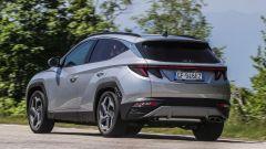 Hyundai Tucson Plug-in Hybrid: visuale di 3/4 posteriore