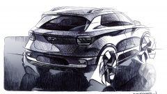 Hyundai Venue: vista 3/4 posteriore