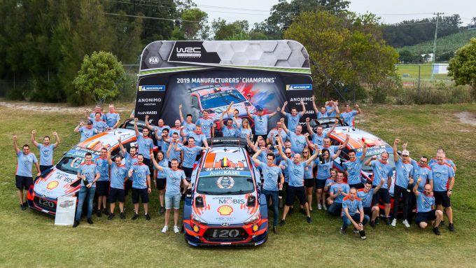 Hyundai WRC, la festa della casa coreana per il titolo costruttori