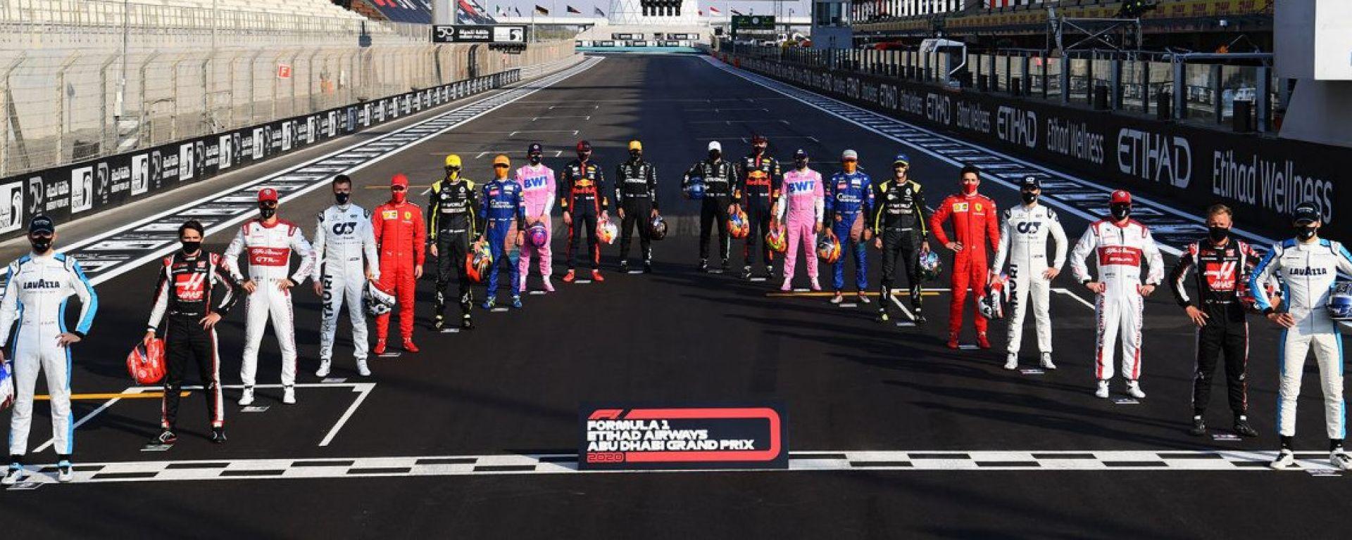 I 20 piloti del Mondiale di Formula 1 che hanno corso il GP Abu Dhabi 2020