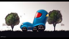 Nissan: i bambini disegnano l'auto del futuro - Immagine: 1