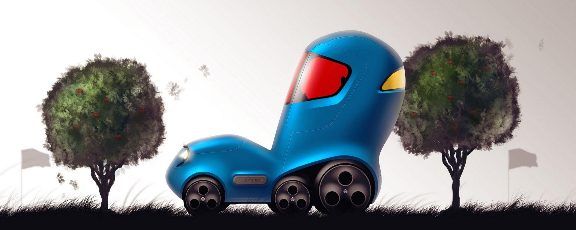 Nissan: i bambini disegnano l'auto del futuro