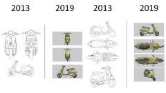 I brevetti Piaggio a confronto con quelli Motolux (fonte: La Stampa)