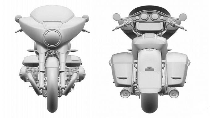 I disegni della nuova R 18 Touring