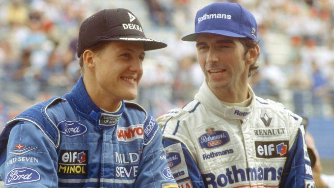 I due pretendenti al titolo F1 1994: Michael Schumacher e Damon Hill