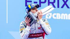 I festeggiamenti di Lucas Di Grassi dopo la vittoria a Berlino