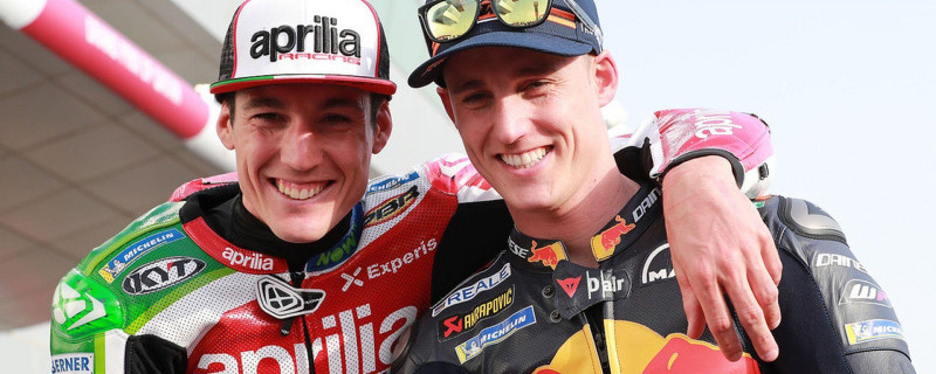 I fratelli Aleix (Aprilia) e Pol Espargaro (KTM) nel 2018