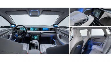 I lussuosi e futuristici interni del SUV elettrico di Togg