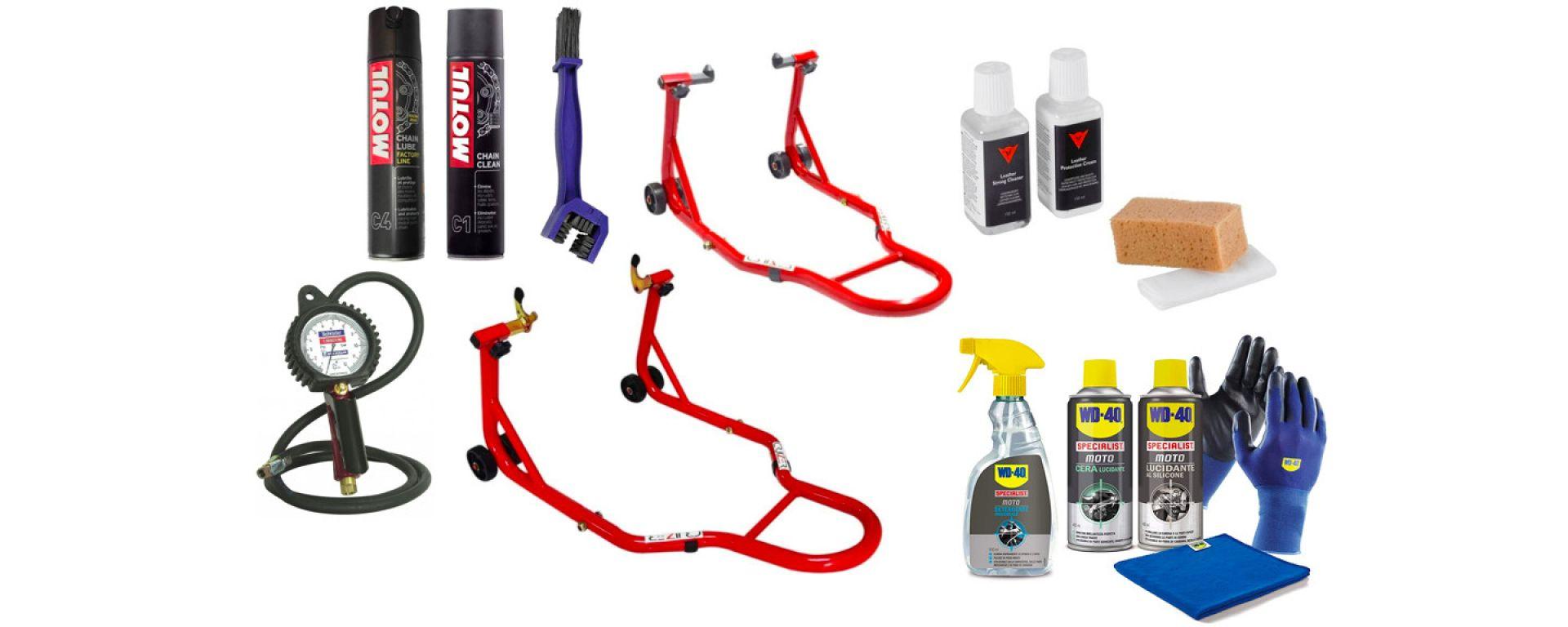 I migliori accessori e prodotti moto su Amazon per la pulizia, cura e manutenzione della moto e dell'abbigliamento tecnico