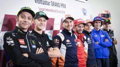 I piloti MotoGP in conferenza stampa a Losail