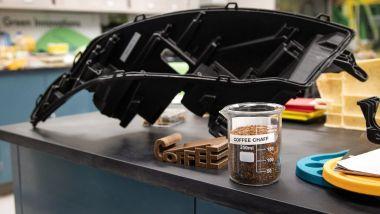 I primi componenti Ford ottenuti dalla lavorazione delle bucce di caffè fornite da McDonald's