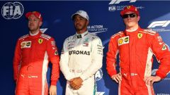 I primi tre qualificati del GP d'Australia