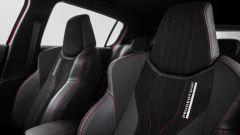 I sedili della 308 GTi sono ad alto contenimento