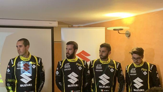 I vincitori dell'Aci Rally Italia Talent 2019: Luca Insalata, Lorenzo Lamanda, Marco Betti e Nicolò Lazzarini