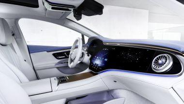 IAA 2021: Mercedes EQE, gli interni con l'MBUX Hyperscreen