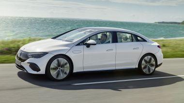 IAA 2021: Mercedes EQE, visuale laterale