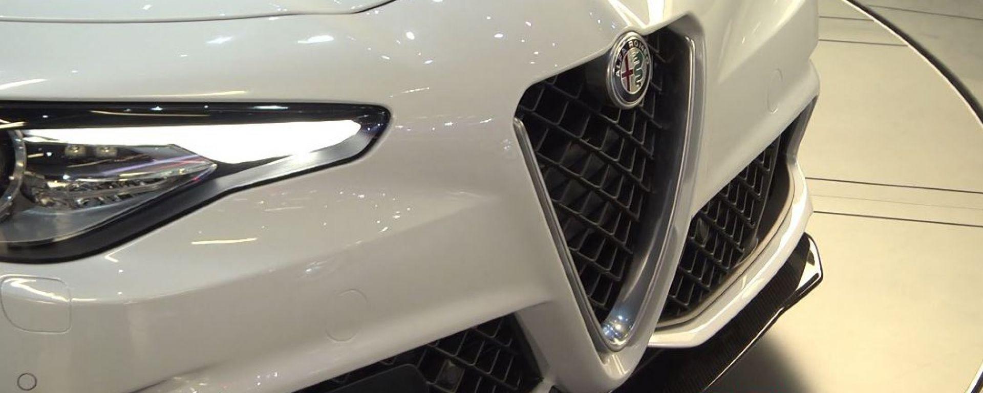 IAA Francoforte 2015: l'Alfa Romeo Giulia Quadrifoglio Verde
