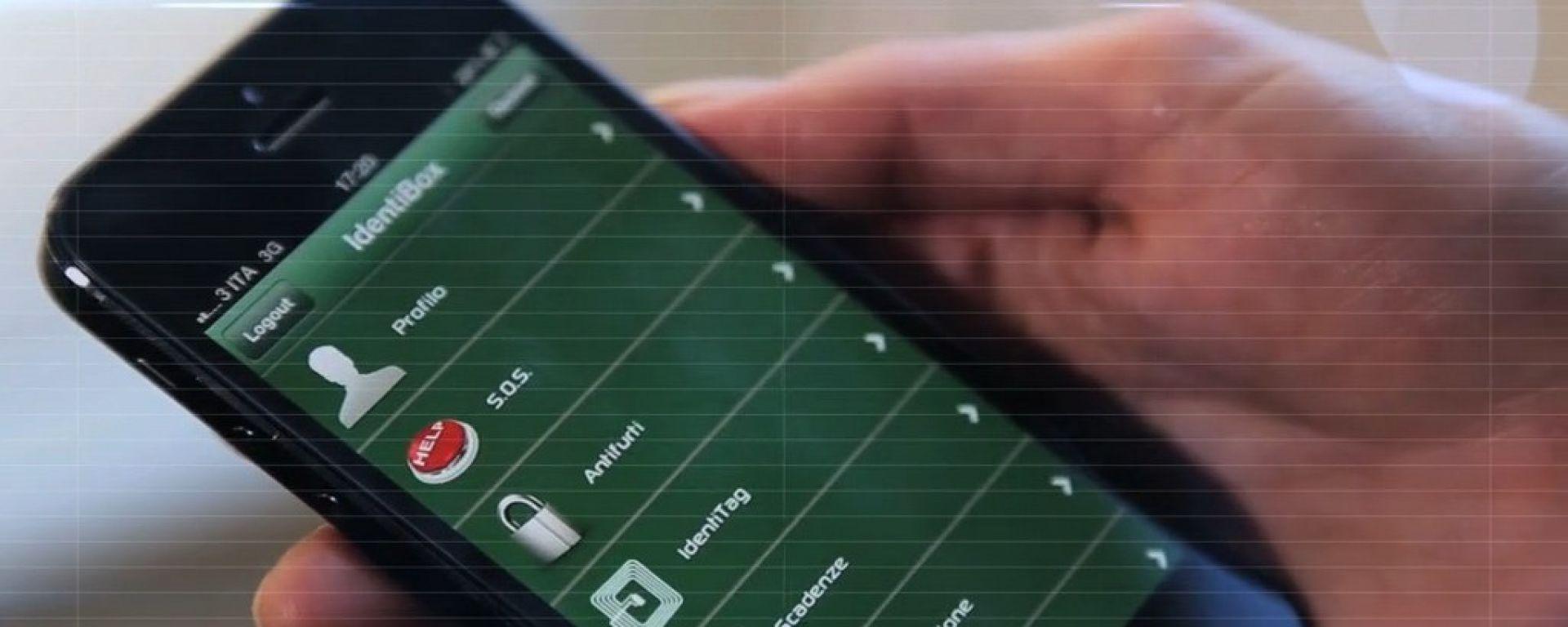 Identibox, arriva l'app per l'antifurto col chip