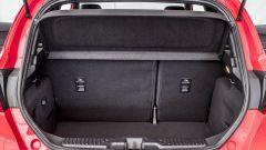 Il bagagliaio della Fiesta ST in configurazione standard tocca i 311 litri