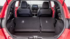 Il bagagliaio della Fiesta ST in questa configurazione supera i 1000 litri di capacità