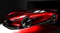 Il bozzetto con cui è stata presentata a novembre la Mazda RX-Vision GT3 Concept