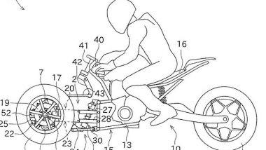 Il bozzetto del telaio del nuovo trike di Kawasaki, previsto per il 2020