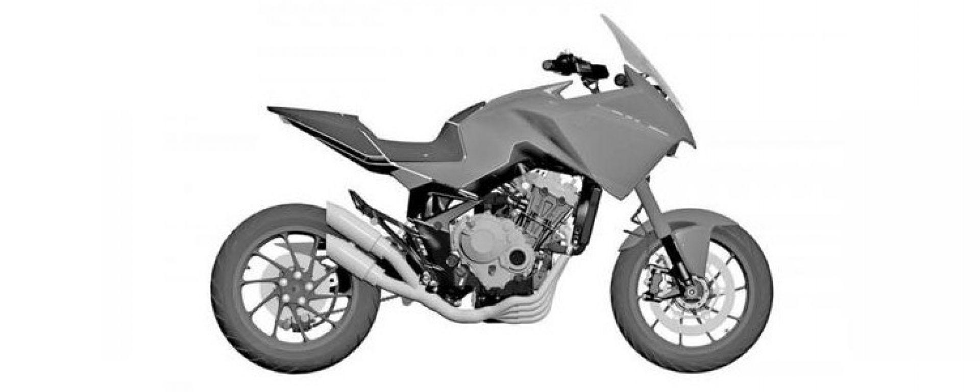 Il brevetto della Honda CB4 X Concept
