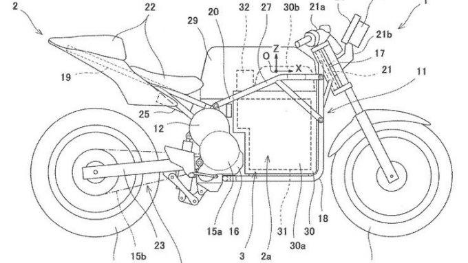 Il brevetto della Kawasaki elettrica