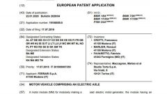 Il brevetto Ferrari depositato all'European Patent Office