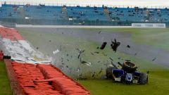 Il brutto incidente di Ericsson con la Sauber F1 - GP Inghilterra