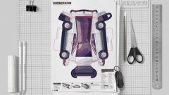 Il cartamodello del CyberPaper, versione cartacea del Tesla CyberTruck
