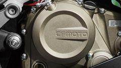 Il carter motore della CFMoto 300 SR
