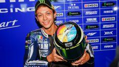 Il casco AGV di Valentino Rossi a Misano nel 2013 in cui ricorda Marco Simoncelli