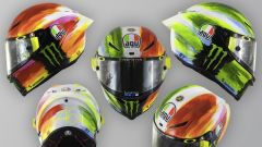 Il casco AGV di Valentino Rossi al Mugello nel 2019