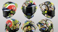 Il casco AGV di Valentino Rossi in occasione di Misano 2019
