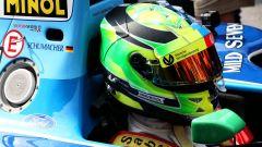 Il casco di Mick Schumacher, vista laterale destra